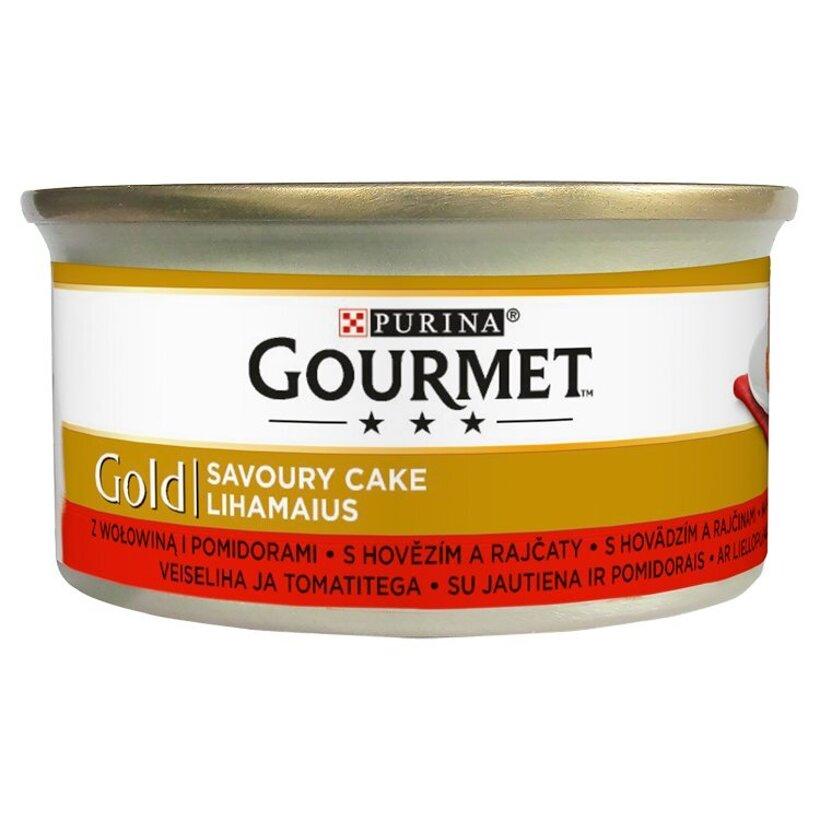 GOURMET Gold Savoury Cake s hovädzím a rajčinami 85 g