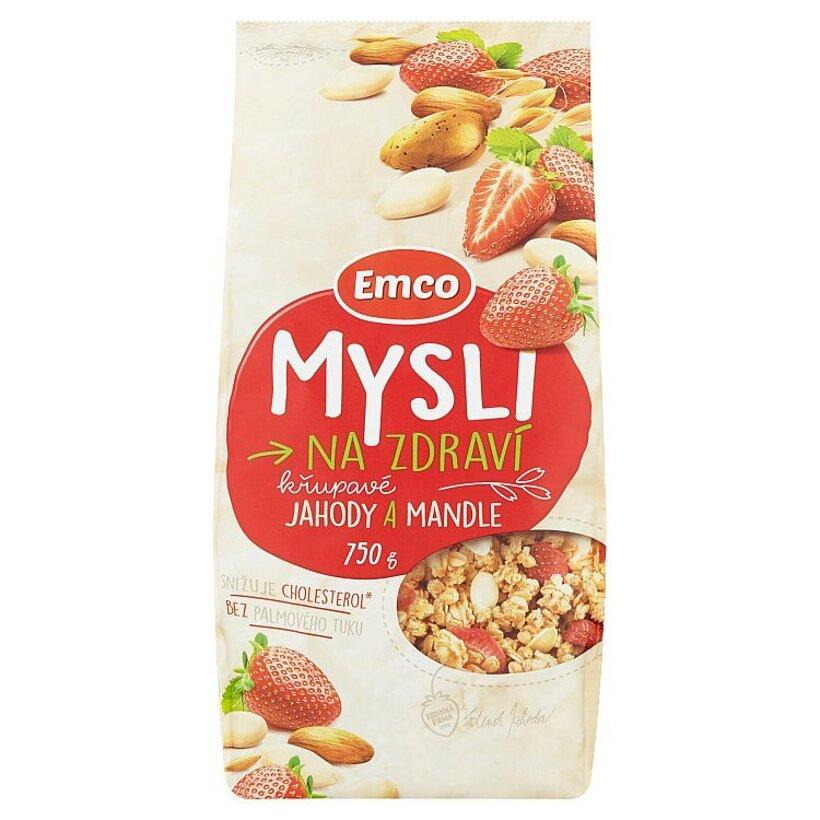 Emco Mysli na Zdraví Chrumkavé jahody a mandle 750 g