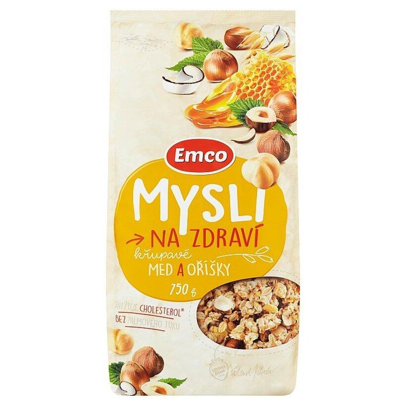 Emco Mysli na Zdraví Chrumkavé med a orechy 750 g
