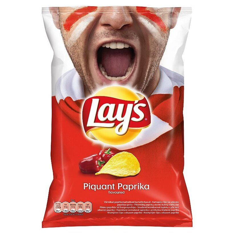 Lay's Vyprážané zemiakové lupienky s príchuťou štipľavej papriky 77 g