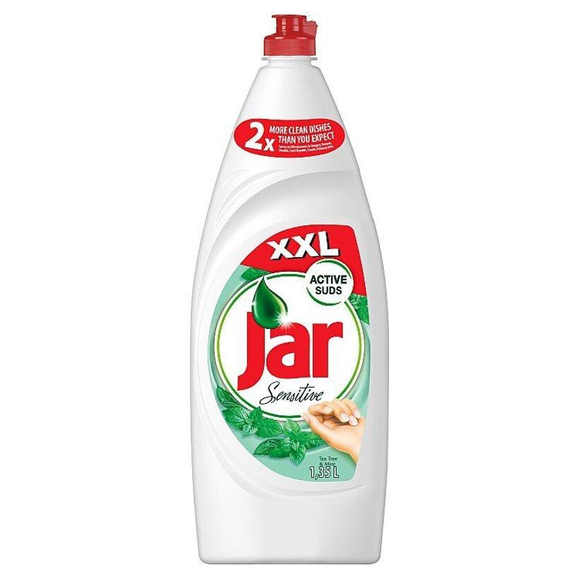 Jar Sensitive Tea tree & Mint prostriedok na umývanie riadu 1350 ml