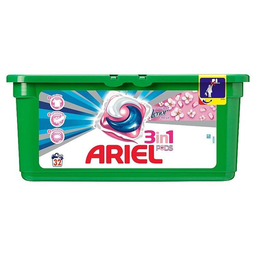 Ariel Touch Of Lenor Gélové Kapsuly Na Pranie Na 32 Praní