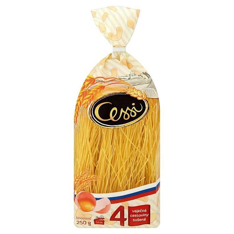 Cessi Štvorvaječné cestoviny pšeničné, sušené niťovky dlhé 250 g