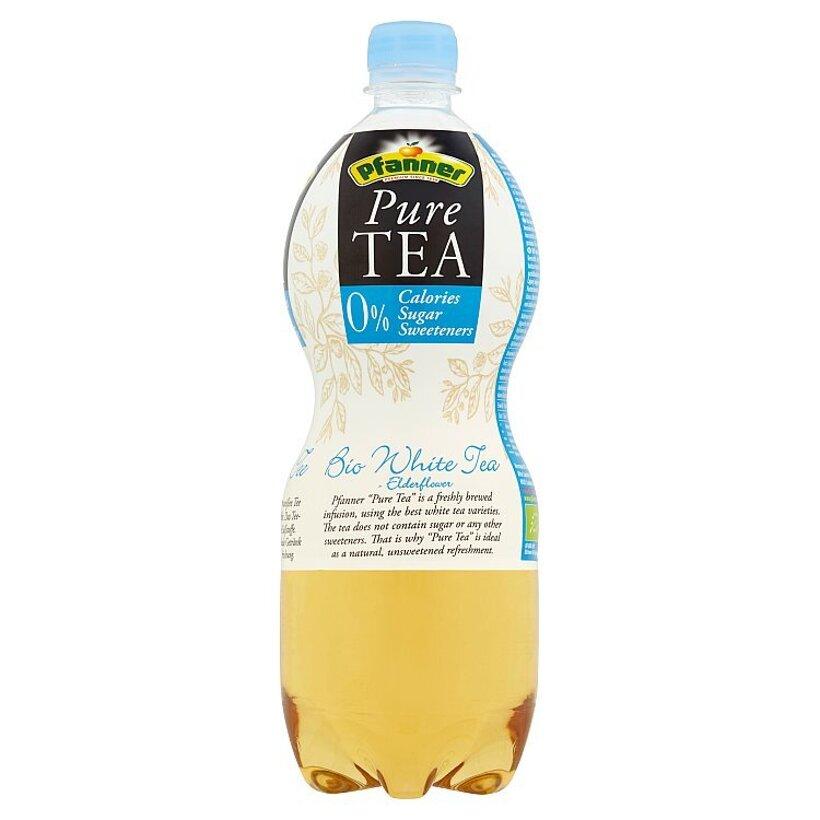 Pfanner Pure Tea bio čajový nápoj z výluhu bieleho čaju a kvetov bazy čiernej 1 l