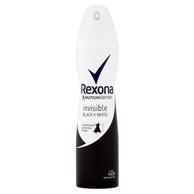 Rexona Invisible Black+White antiperspirant sprej 150 ml