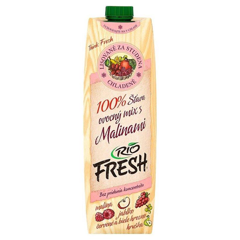 RIO FRESH 100% šťava ovocný mix s malinami 1 l