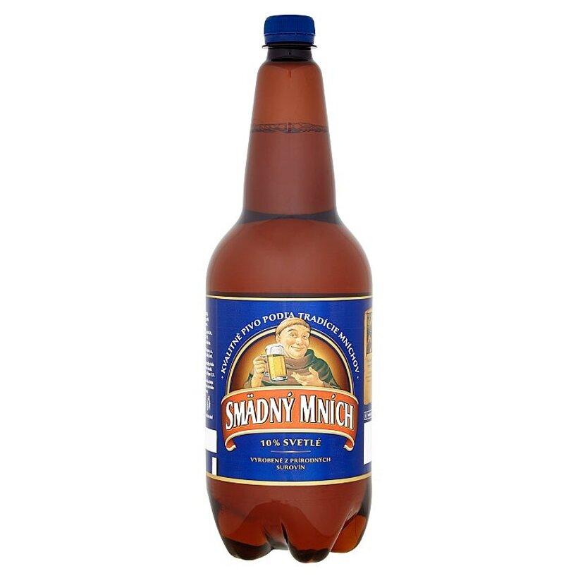 Smädný Mních 10% pivo výčapné svetlé 1,5 l