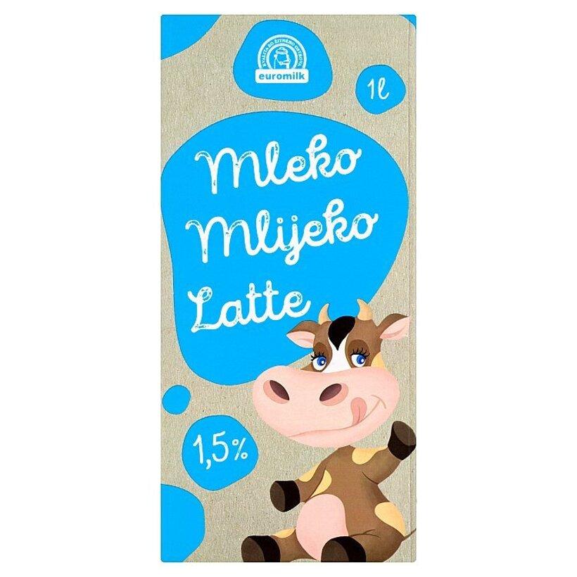 Euromilk Mlieko polotučné 1,5% 1 l