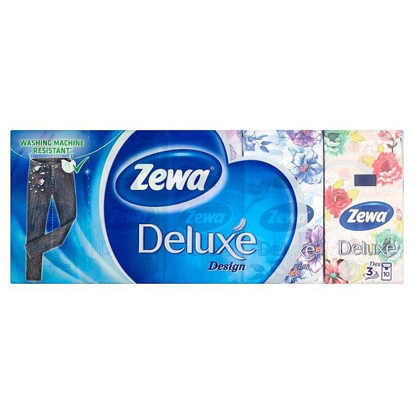 Zewa Deluxe Design papierové vreckovky 3-vrstvové 10 x 10 ks