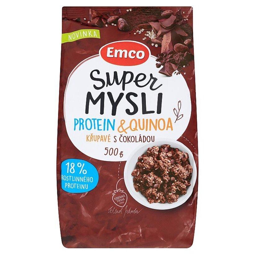 Emco Super Mysli Proteín & Quinoa chrumkavé sčokoládou 500 g