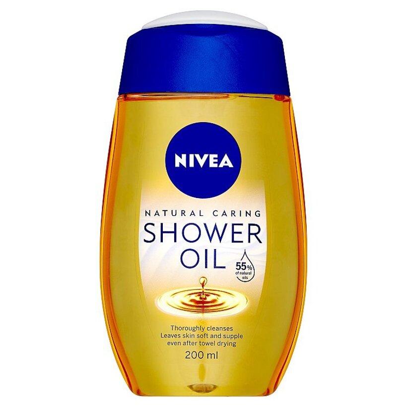 Nivea Natural Ošetrujúci sprchový olej 200 ml