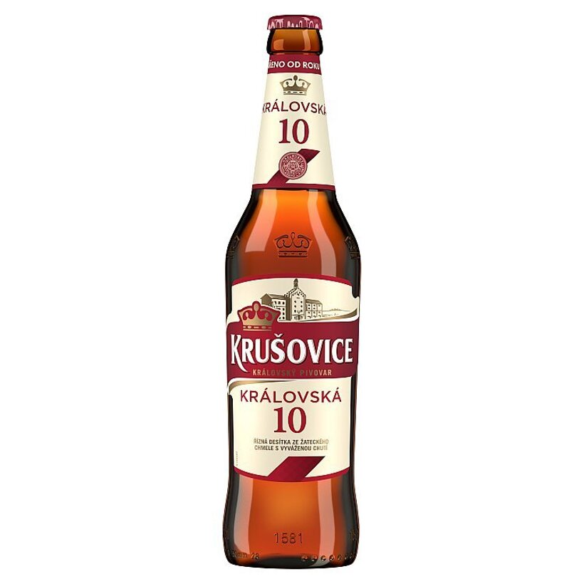Krušovice Královská 10 svetlé výčapné pivo 0,5 l