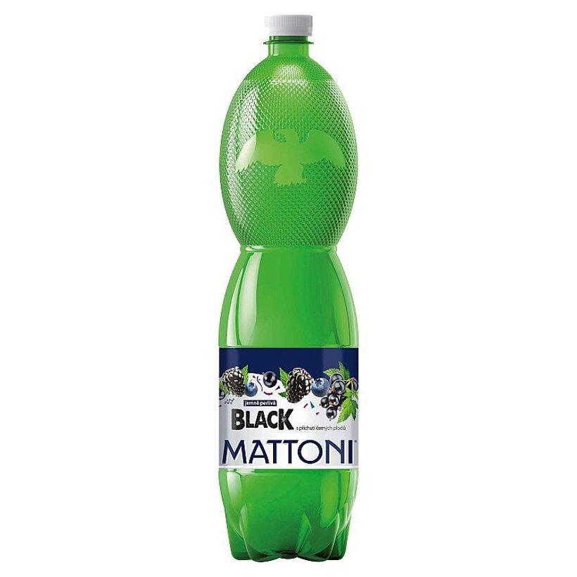 Mattoni Black nealkoholický nápoj pripravený z prírodnej vody s príchuťou čiernych plodov 1,5 l