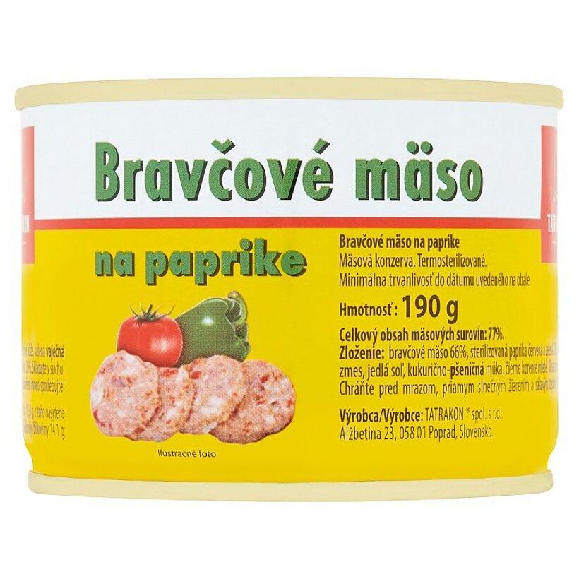 Tatrakon Bravčové mäso na paprike 190 g