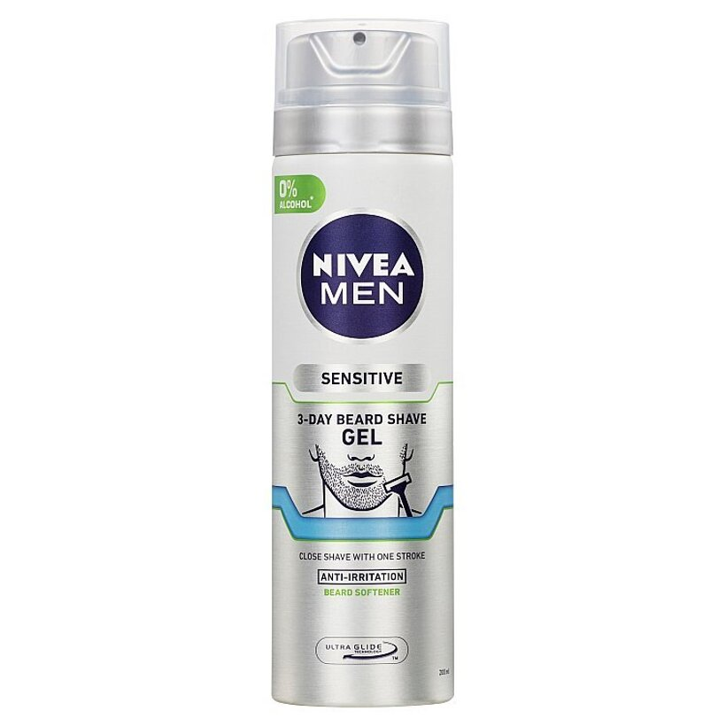 Nivea Men Sensitive Gél na holenie na 3-dňové strnisko 200 ml