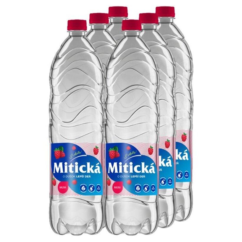 Mitická Malina jemne perlivá ochutená minerálna voda 6 x 1,5 l