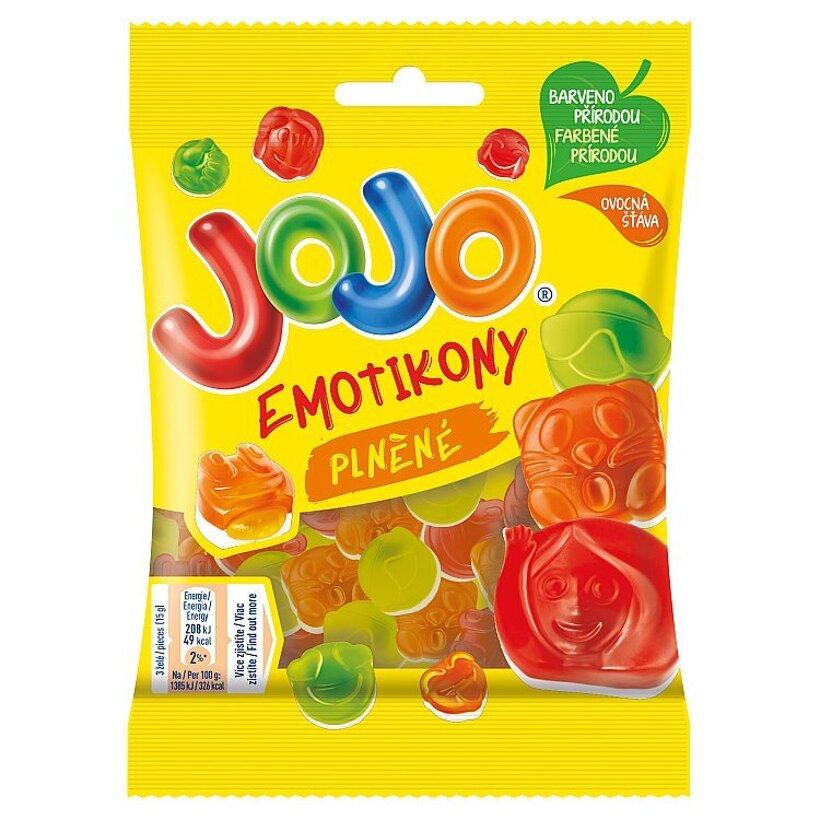 JOJO Emotikony, želé bonbóny s náplňou, 80 g