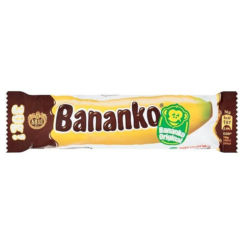 Kraš Bananko penová cukrovinka s banánovou príchuťou máčaná v čokoláde 30 g