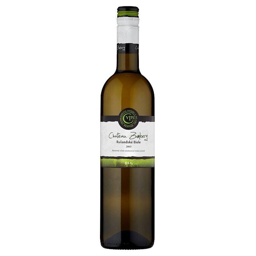 VPS Chateau Zumberg Rulandské biele akostné víno odrodové biele suché 0,75 l
