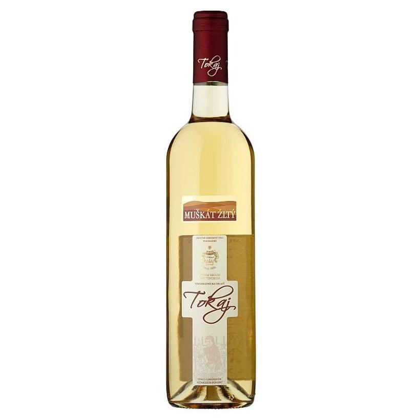 Tokaj Muškát žltý akostné odrodové víno polosladké 0,75 l