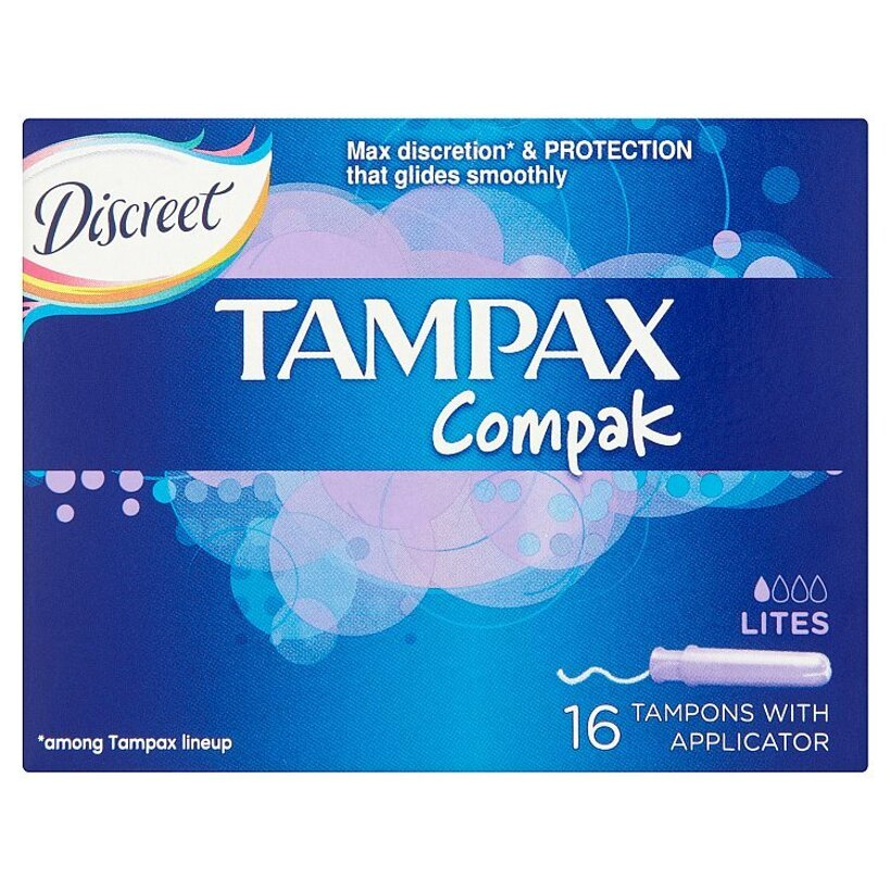 Tampax Compak Discreet Lites tampóny s aplikátorom 16 ks