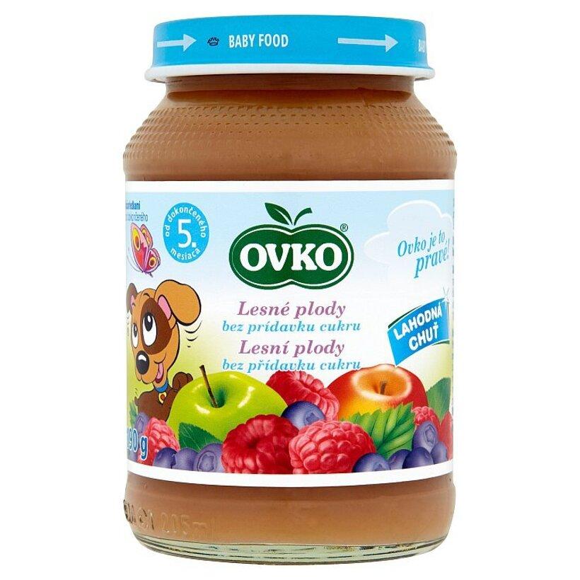 Ovko Dojčenská výživa lesné plody jablková s malinami a čučoriedkami bez cukru 190 g