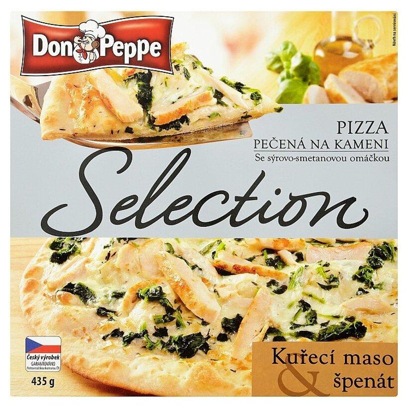 Don Peppe Selection Pizza kuracie mäso & špenát 435 g