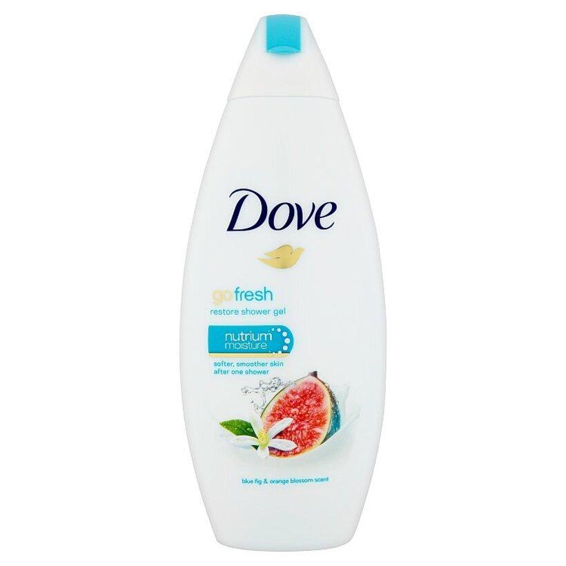 Dove Go Fresh Vyživujúci sprchovací gél s vôňou modrej figy a kvetov pomarančovníka 250 ml