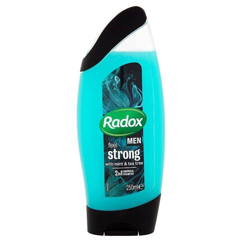 Radox Men Feel strong 2v1 pánsky sprchovací gél a šampón 250 ml