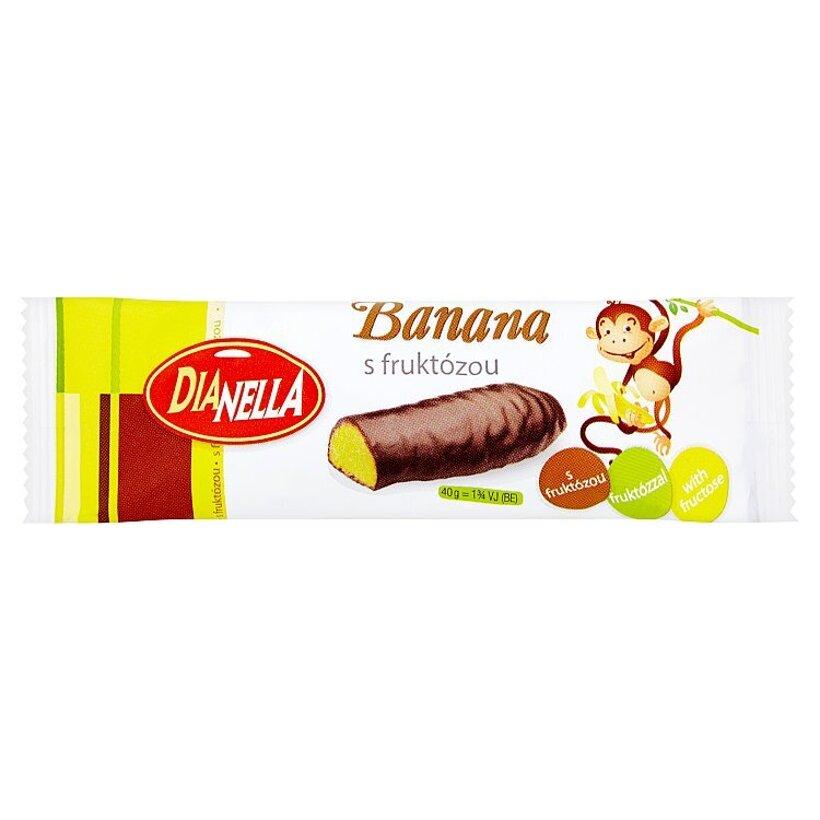 DiaNella Banánová tyčinka máčaná v horkej poleve 40 g