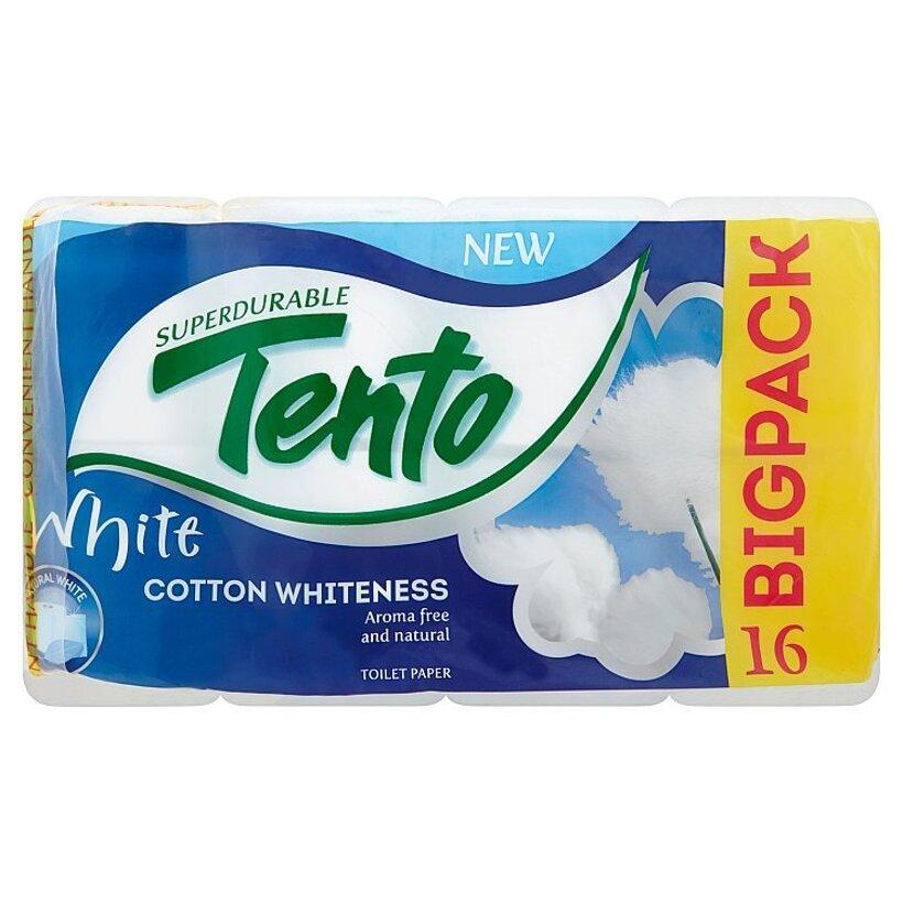Tento White prírodný odolný toaletný papier bez vône 16 ks