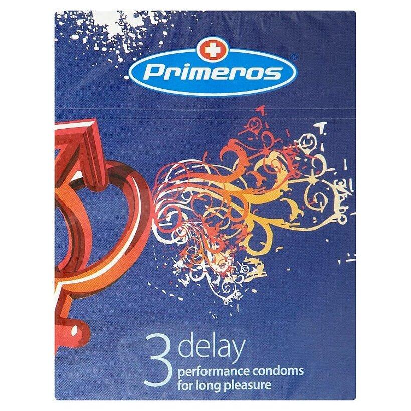 Primeros delay výkonné kondómy na dlhšie potešenie 3 ks