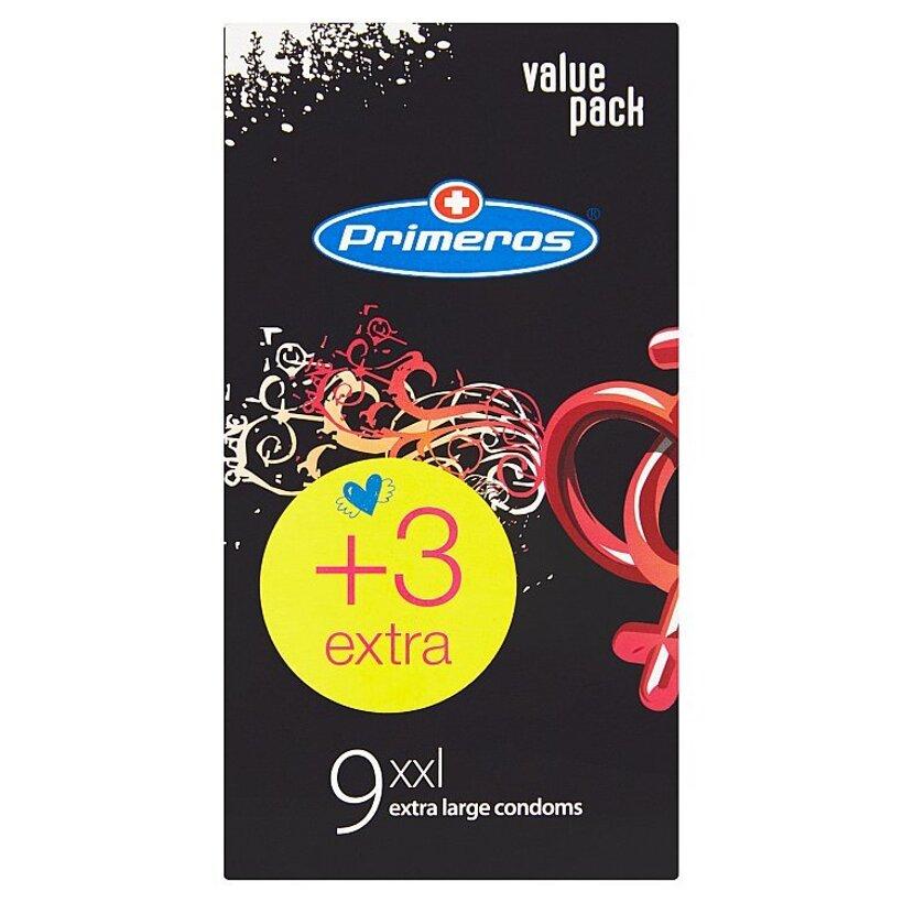 Primeros xxl extra veľké kondómy 12 ks