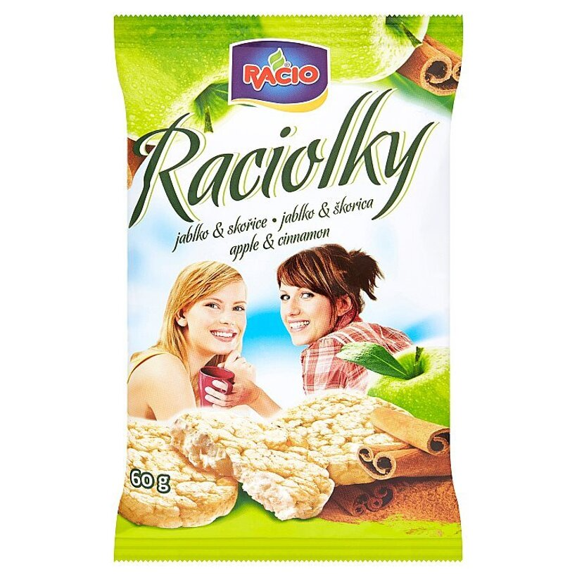 Racio Raciolky Minichlebíčky ryžové jablko & škorica 60 g