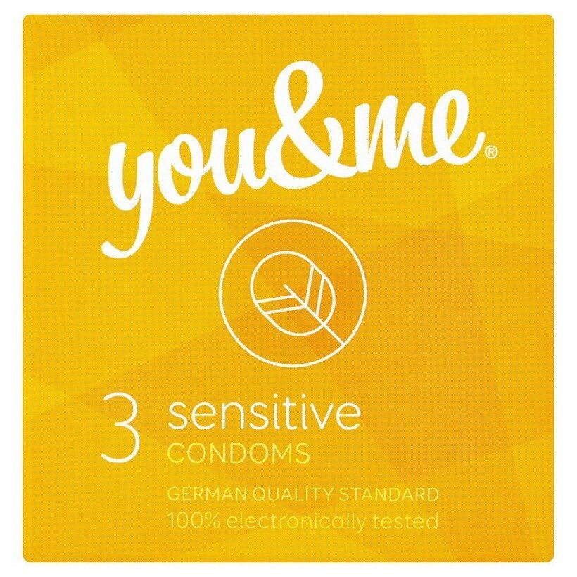 you & me sensitive extra tenké kondómy 3 ks