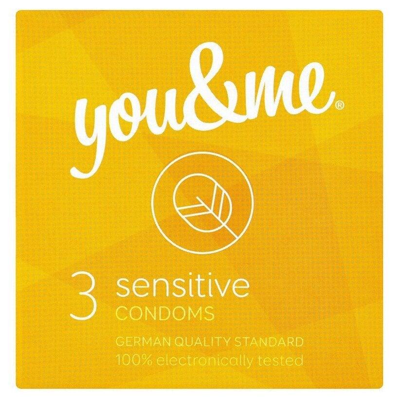 you & me sensitive extra tenké kondómy 3 ks