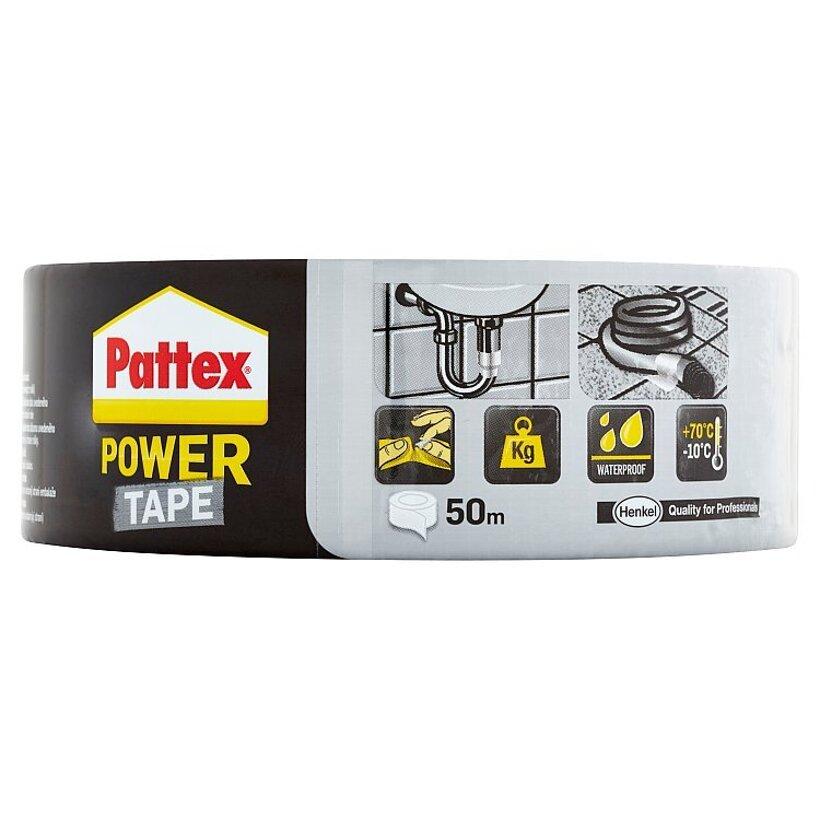 Pattex Power Tape extra silná lepiaca páska strieborná 50 m