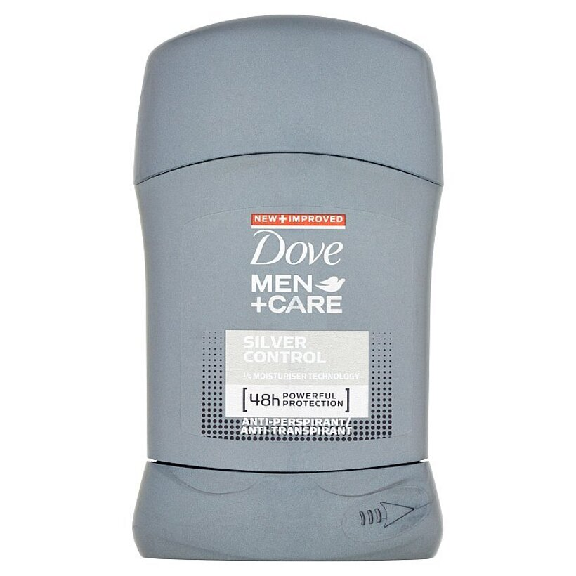 Dove Men+Care Silver control tuhý antiperspirant pre mužov 50 ml