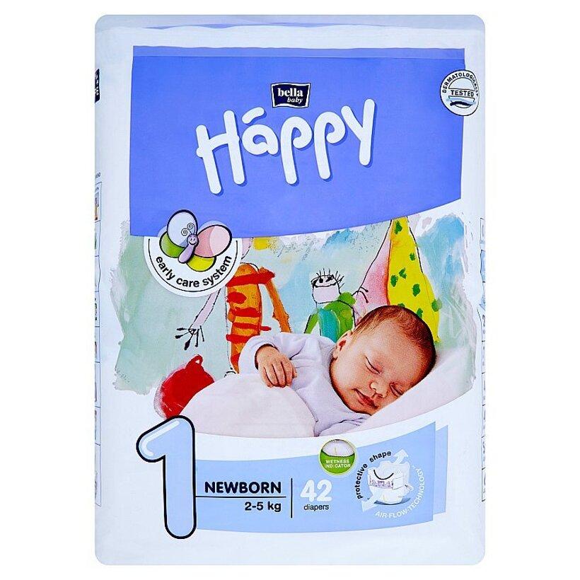 "Happy Newborn Detské plienky ""1"" á 42 ks"