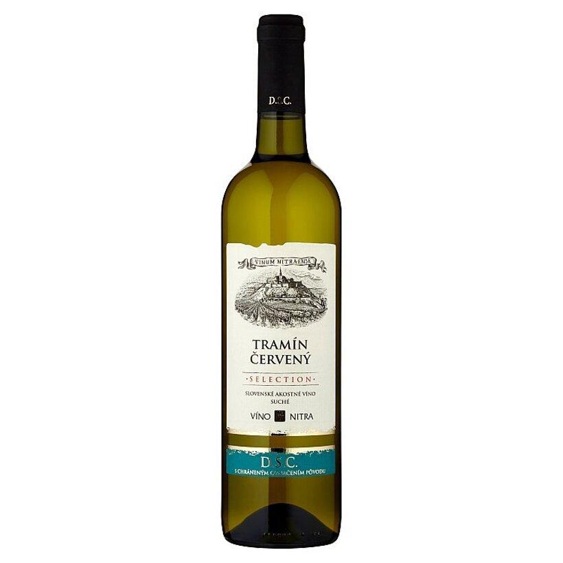 Víno Nitra Selection Tramín červený slovenské akostné víno biele suché 0,75 l