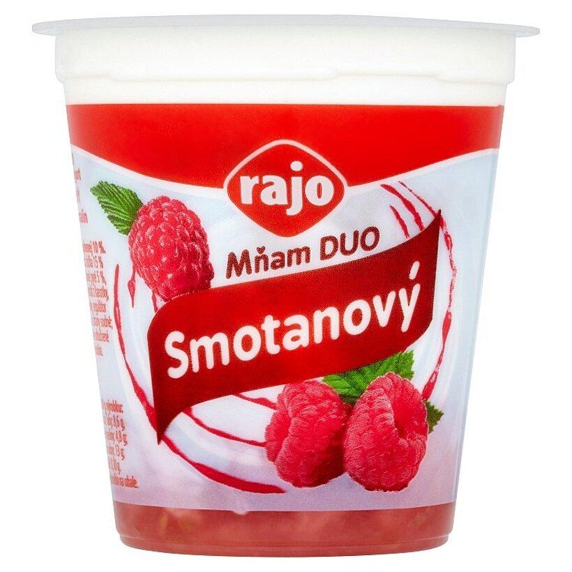 Rajo Mňam Duo Smotanový jogurt malinový s kúskami malín 145 g