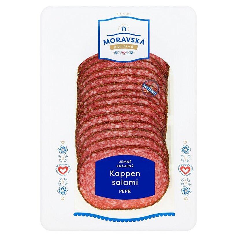Poctivá Moravská Kappen salami s korením nárez 75 g