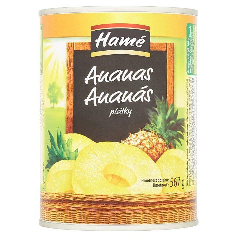 Hamé Ananás plátky v sladkom náleve 567 g