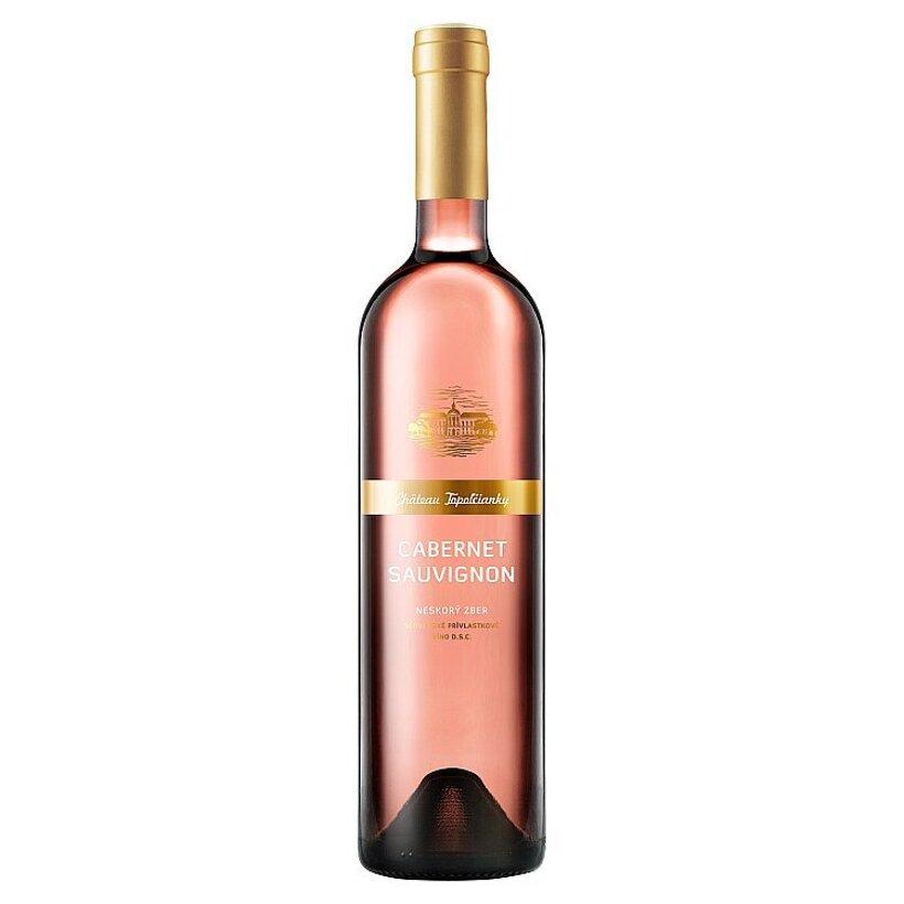 Château Topoľčianky Cabernet Sauvignon slovenské akostné odrodové víno ružové polosladké 0,75 l