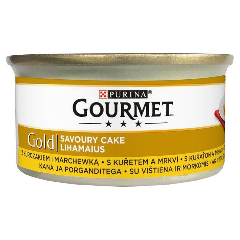 GOURMET Gold Savoury Cake s kuraťom a mrkvou 85 g