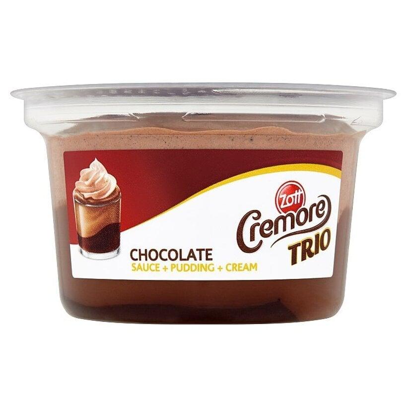 Zott Cremore Trio čokoládový dezert s kakaovou šľahačkou a s čokoládovou polevou 150 g