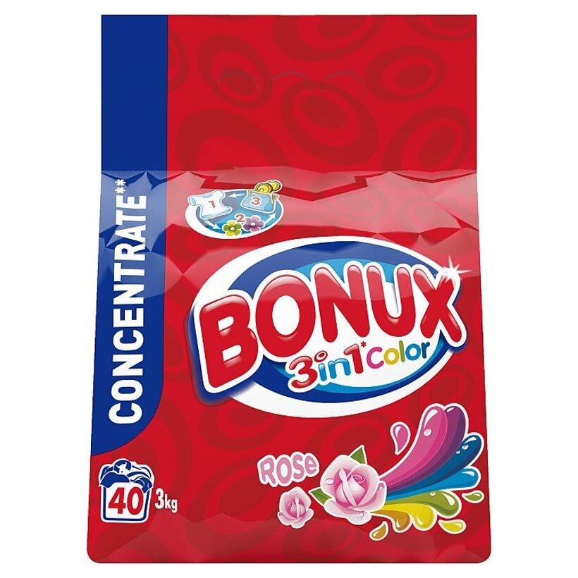 Bonux Rose Color Prací Prášok 3 kg