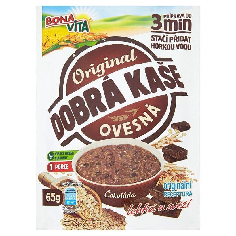 Bona Vita Dobrá kaše Original ovsená kaša čokoláda 65 g