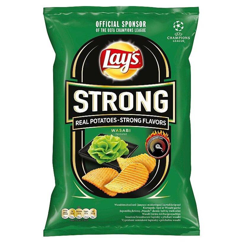 Lay's Strong Vyprážané zemiakové lupienky s príchuťou wasabi 70 g