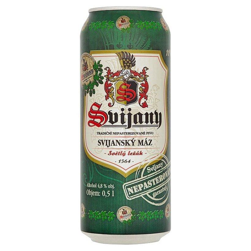 Svijany Svijanský máz pivo svetlý ležiak 0,5 l